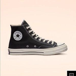 Black high top vintage Converse All Star sneakers